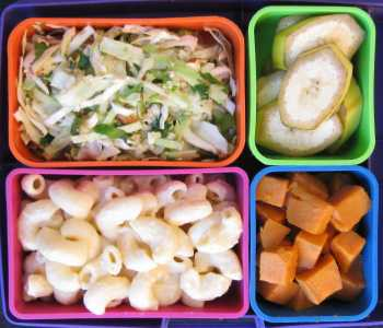 MacAndCheese bento box school lunch