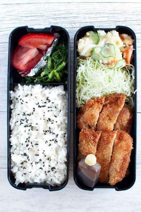 Tonkatsu_Bento_box dinner ideas (Small)