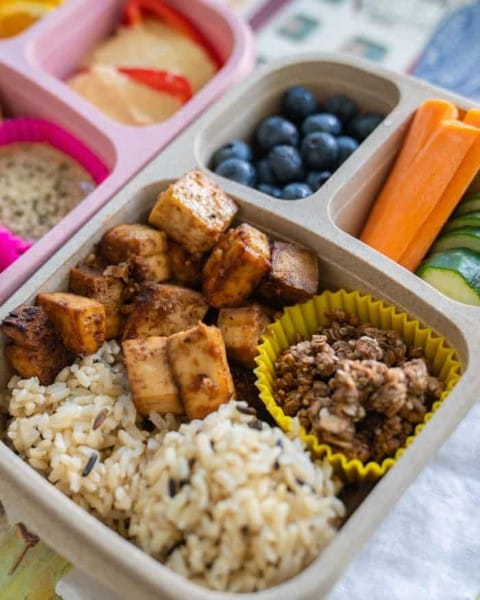 easy healthy vegan bento box lunch recipe (Small)