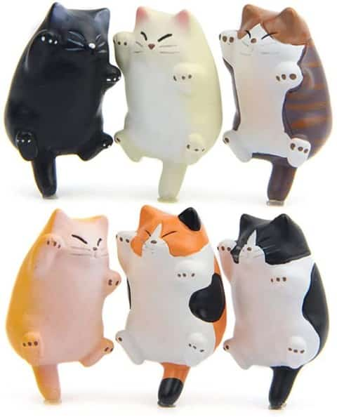 6 Pack Fun Cat Refrigerator Magnets (Small)