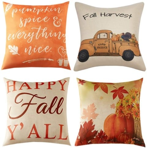 Anickal Thanksgiving Fall Pillow Covers (Small)