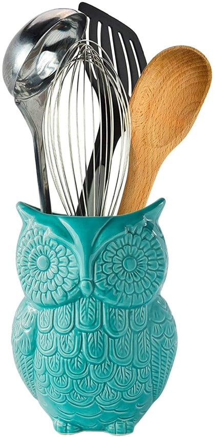Comfify Owl Utensil Holder Decorative Ceramic Cookware (Small)