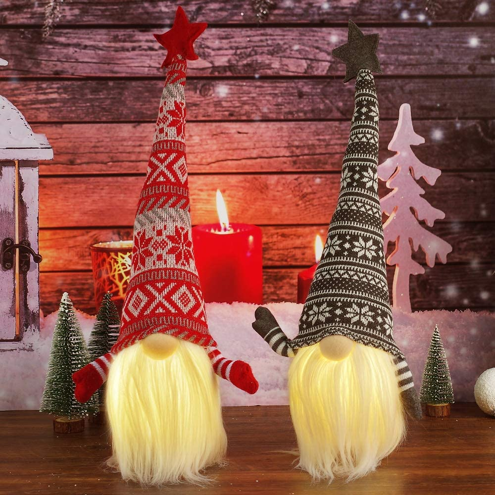 Gnome Christmas Decorations with Led Light