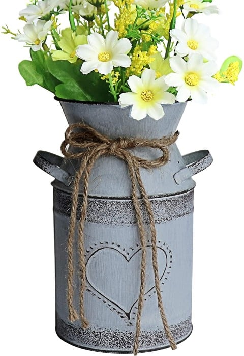 MISIXILE French Style Country Metal Shabby Chic vase (Small)