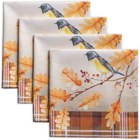 Maison d' Hermine Oak Leaves 100% Cotton Soft and Comfortable napkin (Small)