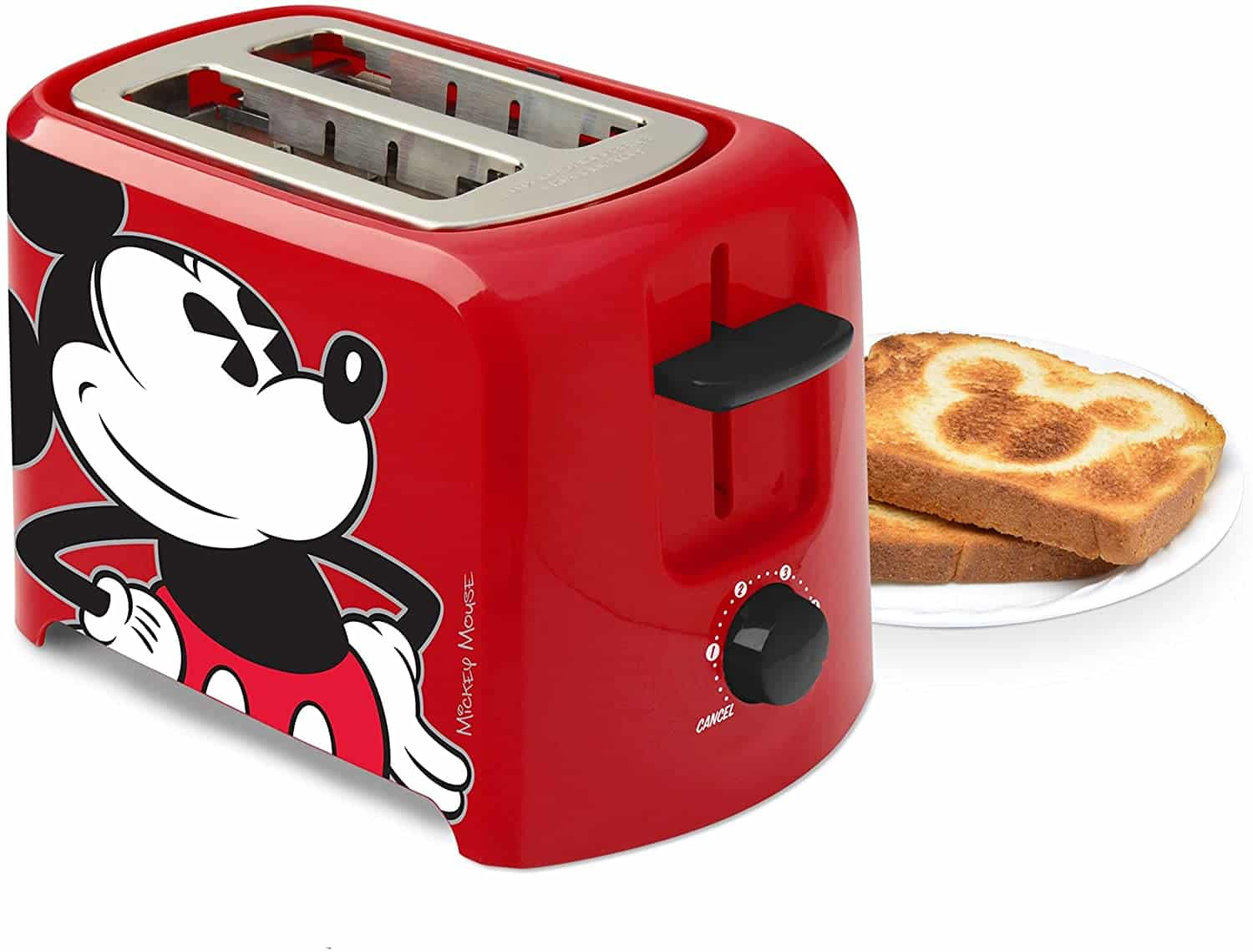 Mickey Mouse 2 Slice Toaster - best cartoon kitchen decor ideas