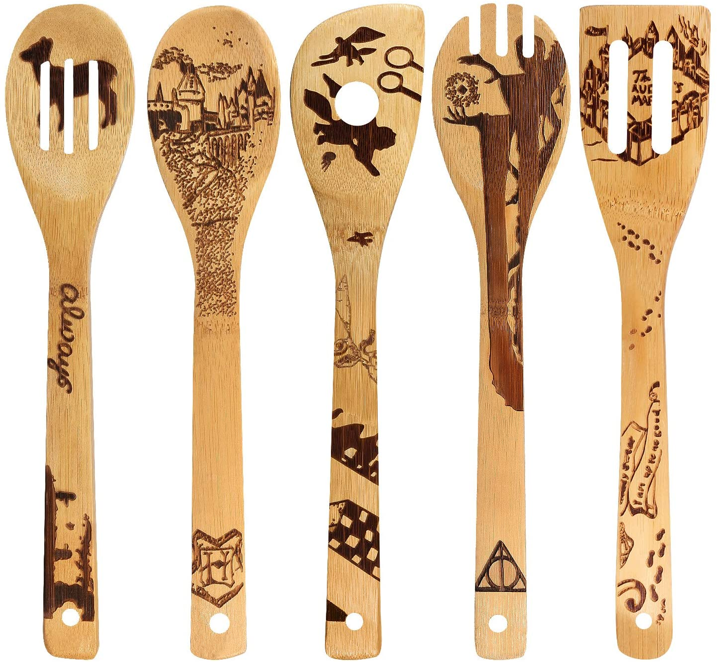 Organic Bamboo Spoons Cooking witchy fall kitchen decor