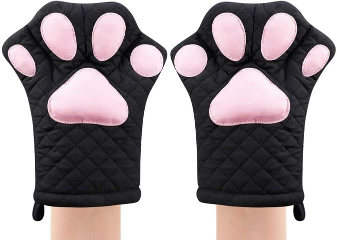 Oven Mitts,Cat Design - kitchen design (Small)