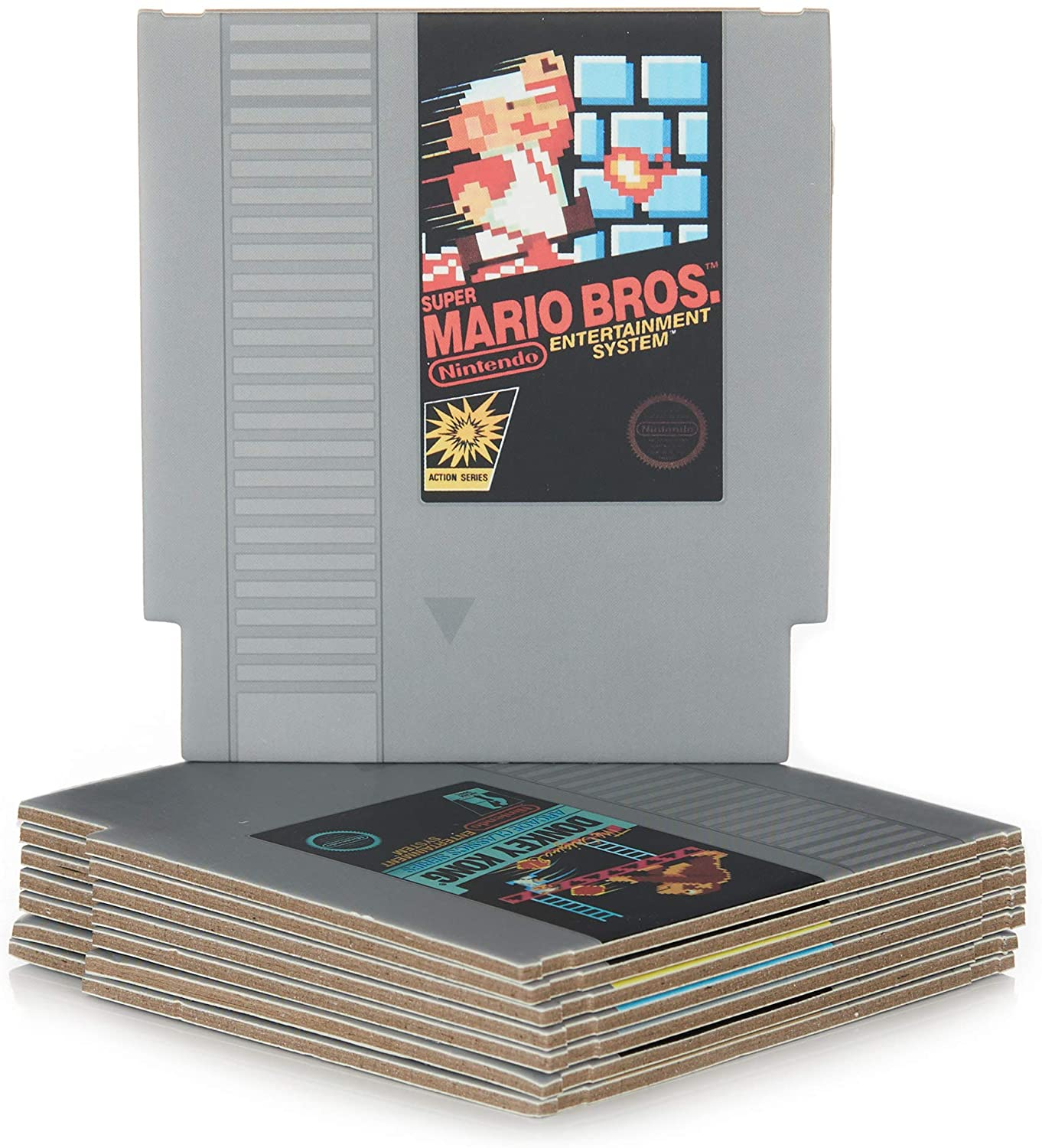 Paladone Nintendo NES Cartridge Coasters for Drinks - kitchen decor ideas