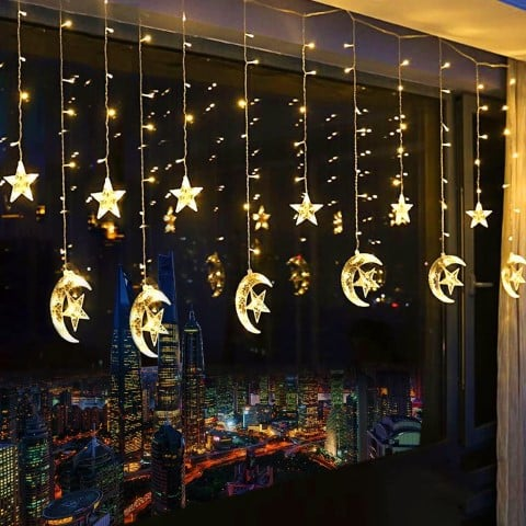 Star Curtain Lights - fun kitchen decor ideas (Small)