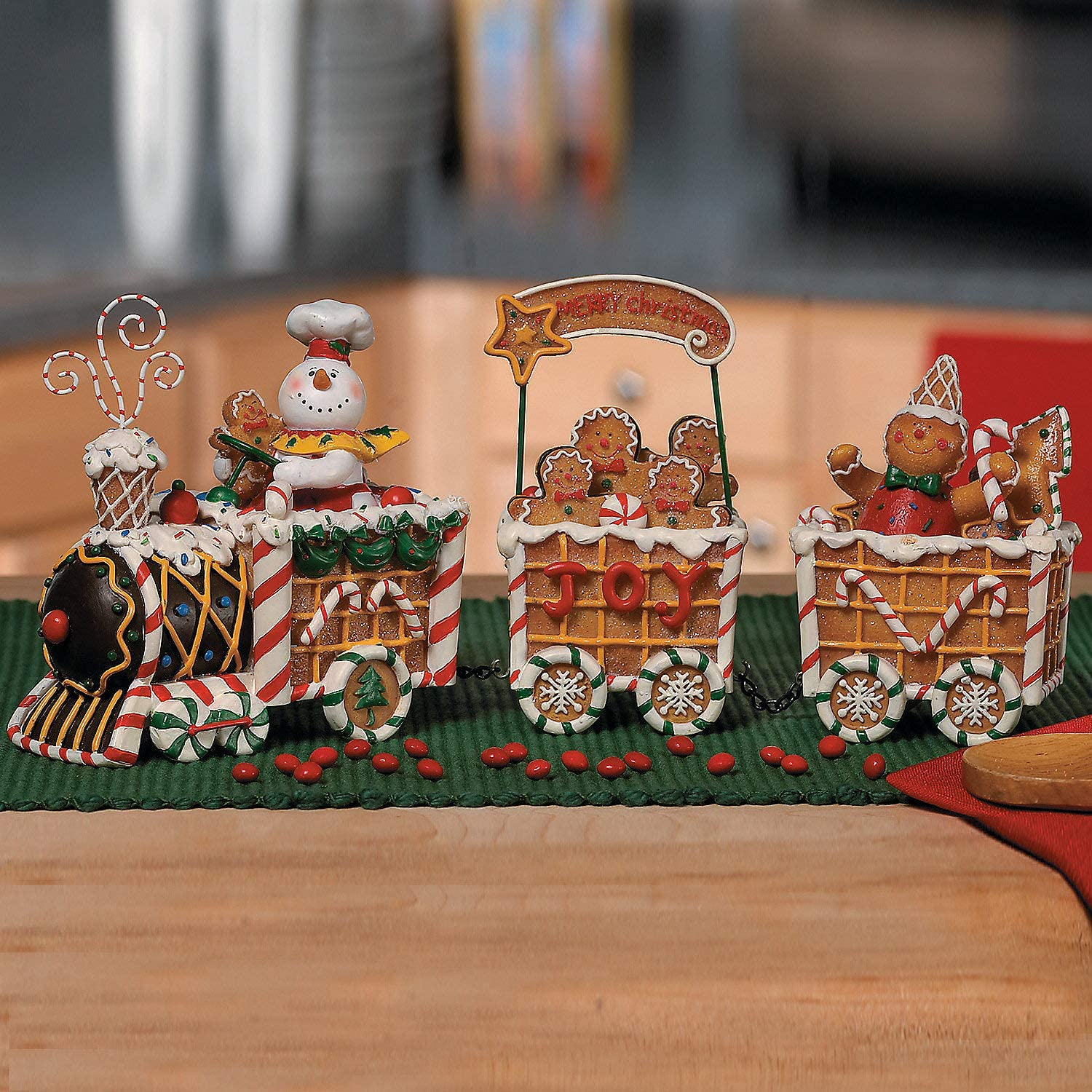 The Gingerbread Express Train - Christmas home decor