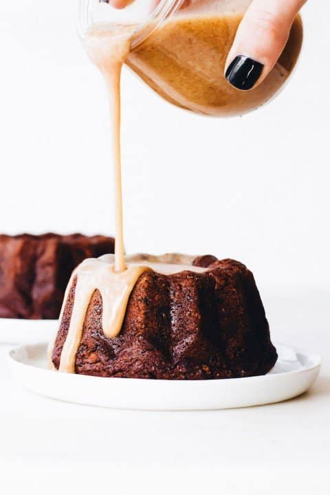 Medjool Date Sticky Toffee Pudding - easy Christmas Snacks and desserts (Small)