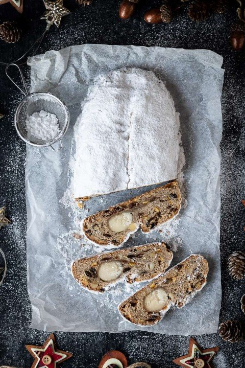 Vegan Stollen With Marzipan (Small)