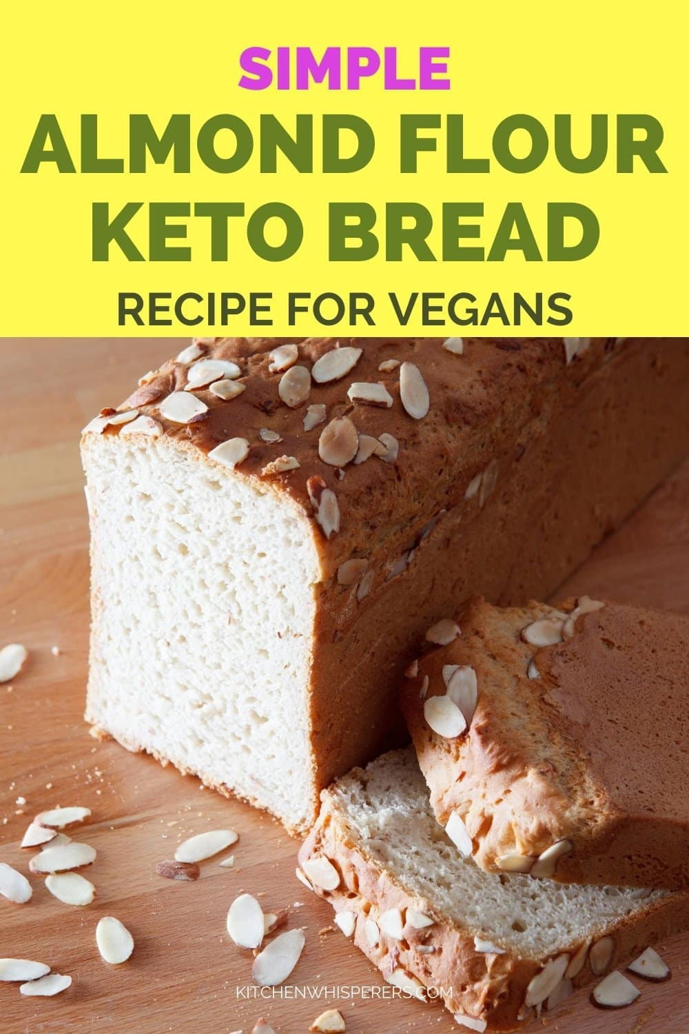 Simple Vegan Almond Flour Keto Bread Recipe