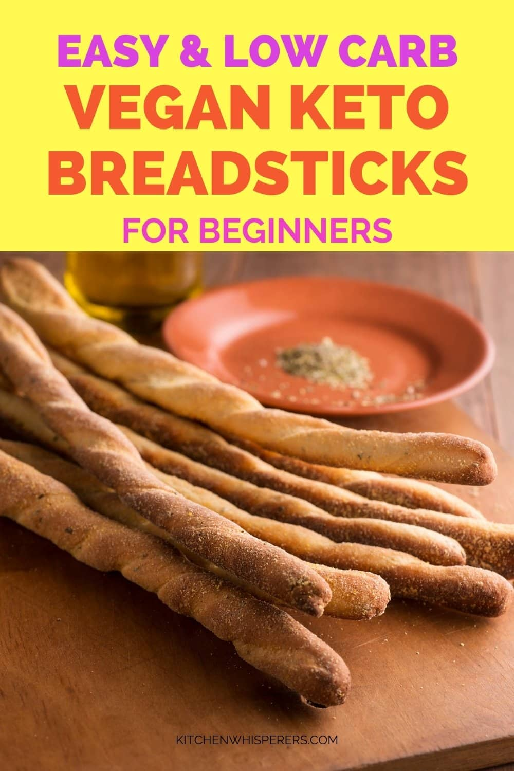 Vegan Keto Breadsticks