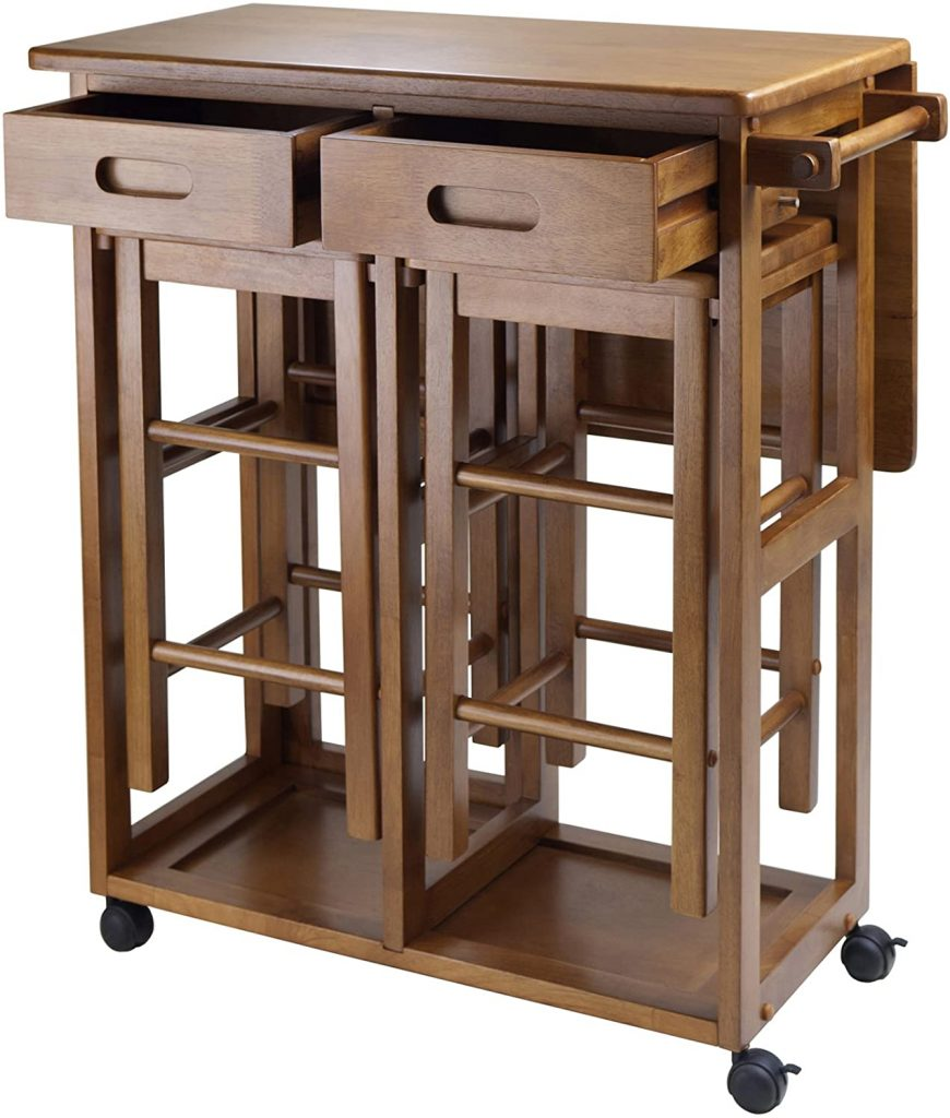 Winsome Wood Suzanne Small Kitchen Island With Seating