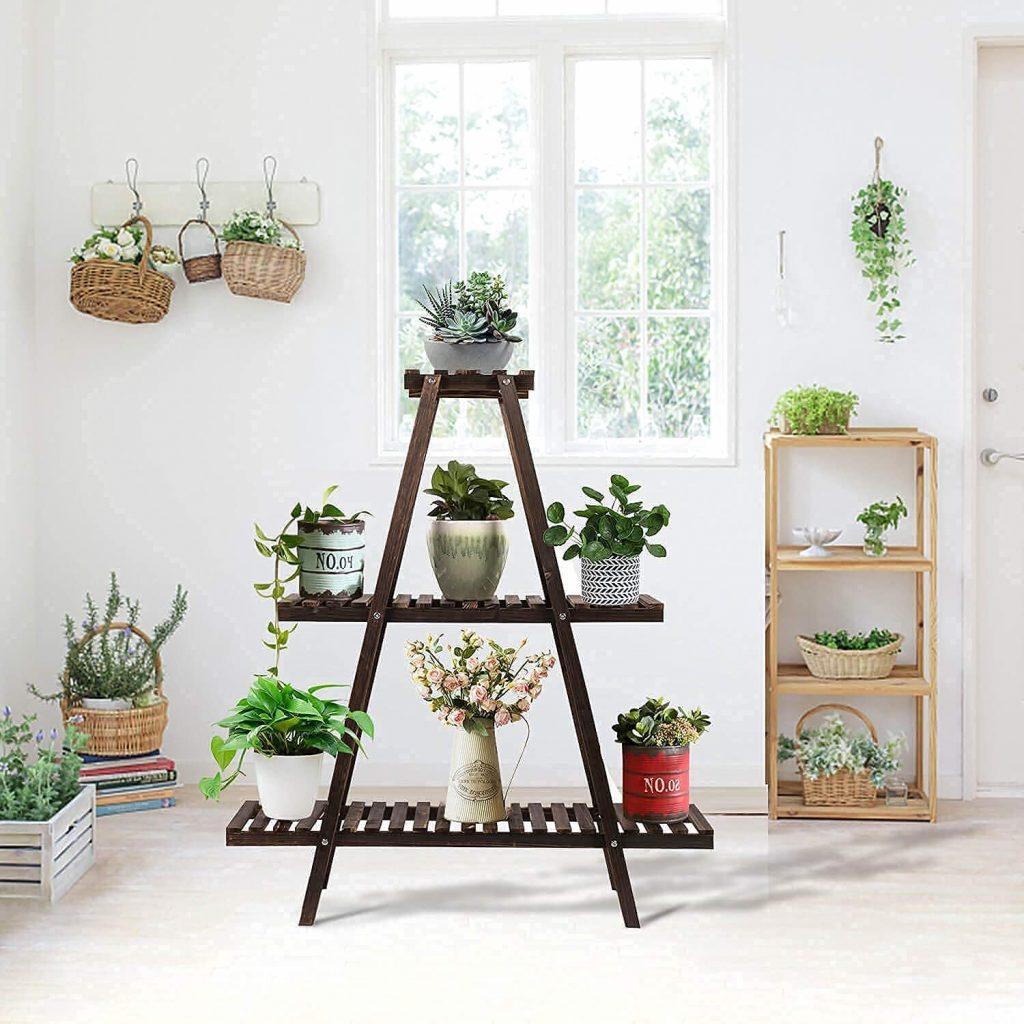 Indoor and Outdoor Wood Plant Stand