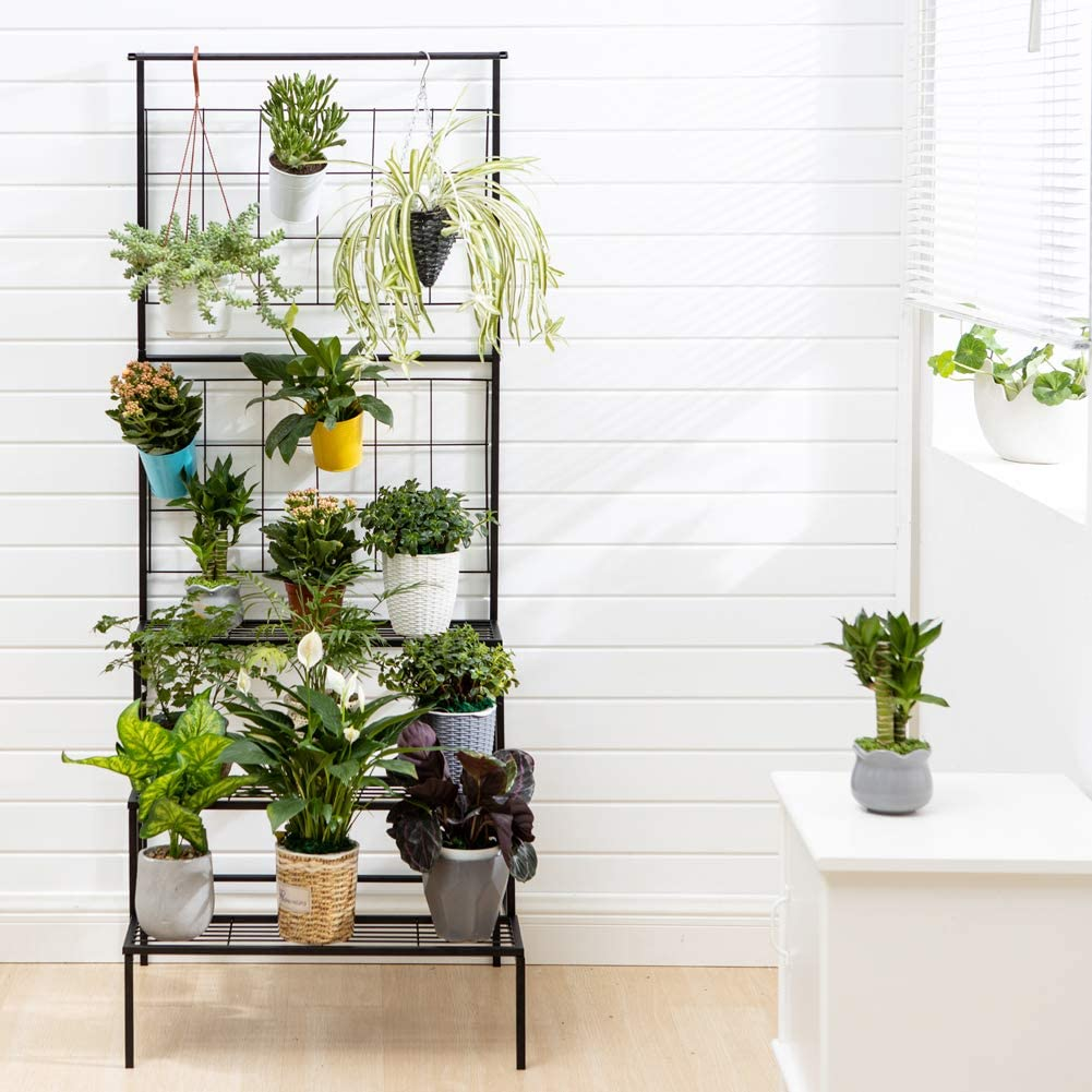 Metal 3-Tier Hanging Plant Stand for outdoor