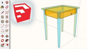 3D Modeling Furniture with SketchUp - Shaker Style Table (Small)