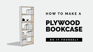DIY How to build an affordable Plywood Bookcase - Basic Woodworking (Small)