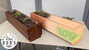 Simple DIY Herb Planter Box - Beginner Woodworking courses (Small)